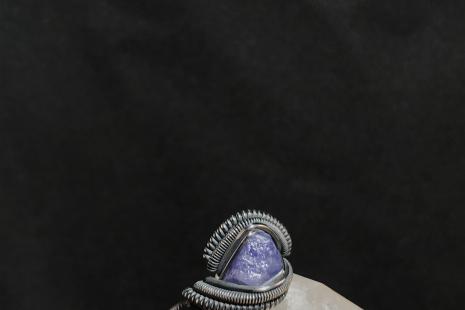 Oxidized Tanzanite Silver Ring SIZE 6