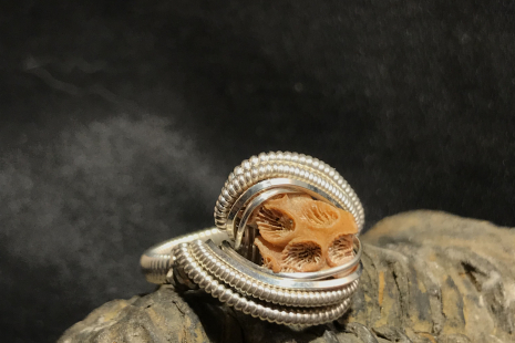 Sea Coral Silver Ring SIZE 6