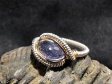 "Blue Iolite ""mini"" Silver Ring SIZE 8"