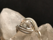 "Herkimer Diamond Silver ""mini"" Ring SIZE 6"