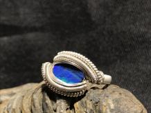 Australian Opal Silver Ring SIZE 7