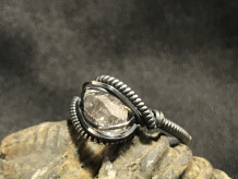"Petroleum Quartz ""mini"" Silver Ring SIZE 8"