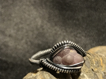 "Grape Chalcedony Silver ""mini"" Ring SIZE 7"