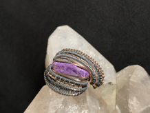 Sugilite Oxidized Silver Ring SIZE 7.5