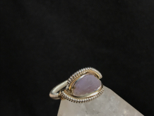 "Grape Agate Sterling Silver ""mini"" Ring SIZE 6"