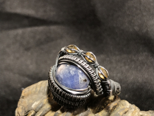 "Tanzanite ""Trinity Series"" Silver Ring SIZE 8"