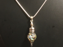 Andamooka Matrix Opal Mini Globe Necklace