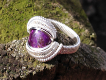 Sugilite Handcrafted Silver Ring Size 8